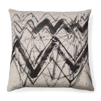 Sitka Home Strokes Abstract Feather Chevron Throw Pillow Perigold