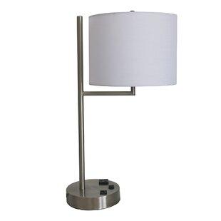 Affordable Phang Tech-Friendly Metal 20 Table Lamp By Orren Ellis
