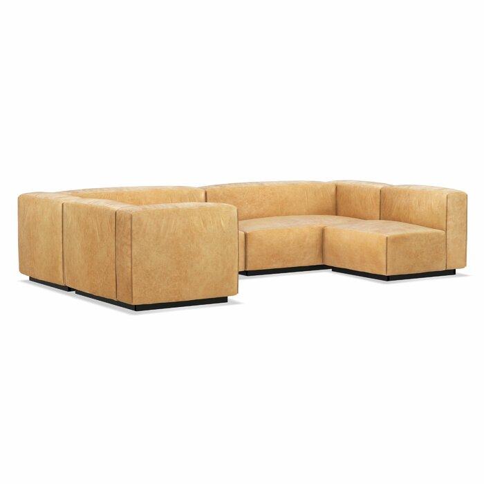 Cleon Large Leather Modular Sectional Sofa