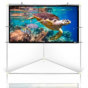 White Portable Projection Screen by SereneLife Comparison