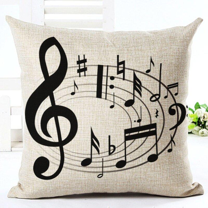 Red Barrel Studio Schroder Swirling Music Note Cotton Throw Pillow Reviews Wayfair