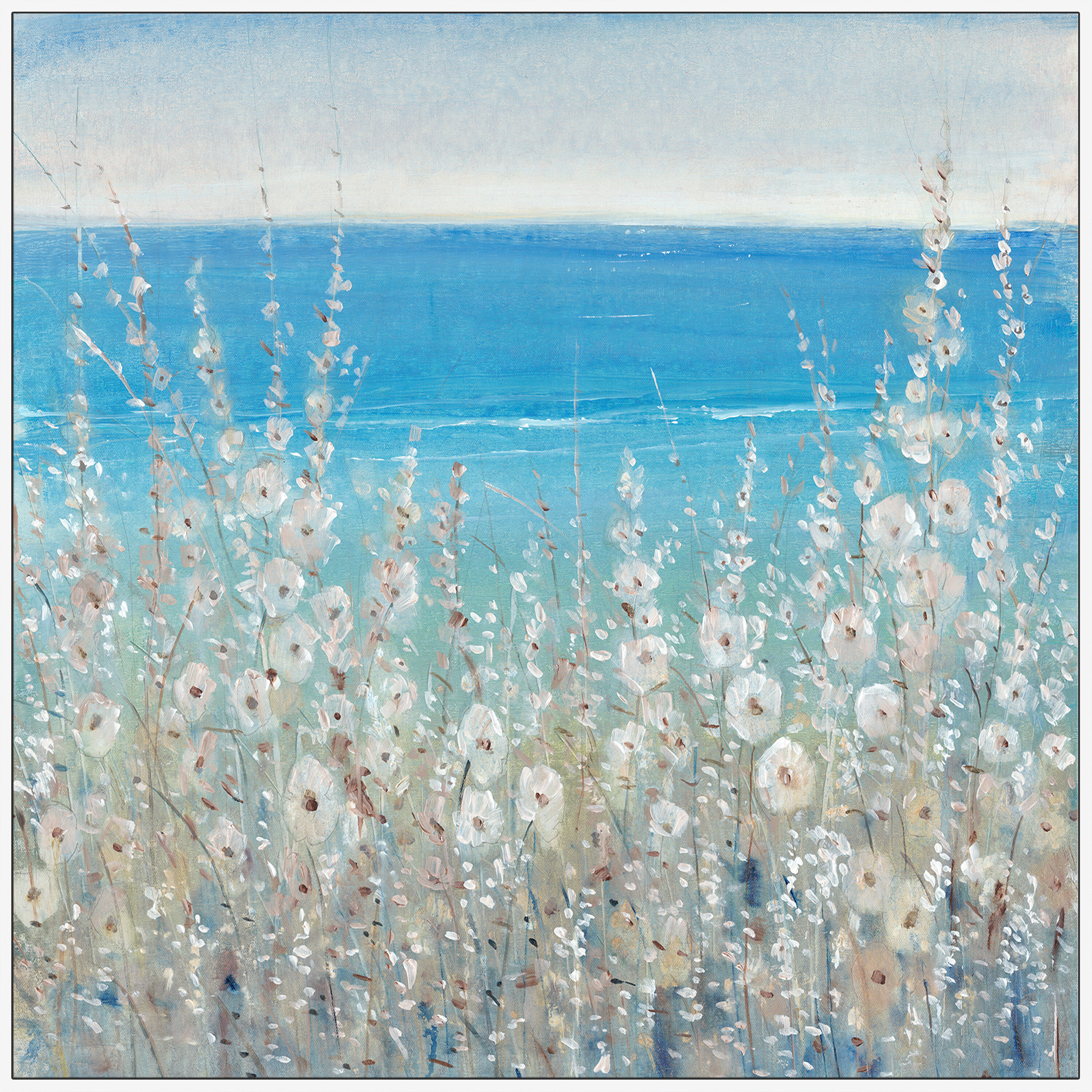 Dovecove Flowers By The Sea Ii Graphic Art Print On Canvas Reviews Wayfair