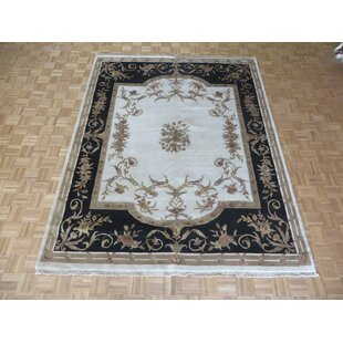 Look for One-of-a-Kind Besser Hand-Knotted Wool Ivory Area Rug By Isabelline