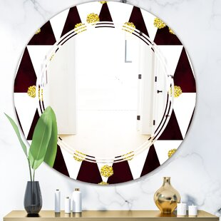 Triple C Polka Dot Pattern II Modern Frameless Wall Mirror by East Urban Home
