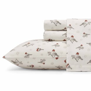 Frosty Finch Flannel Sheet Set