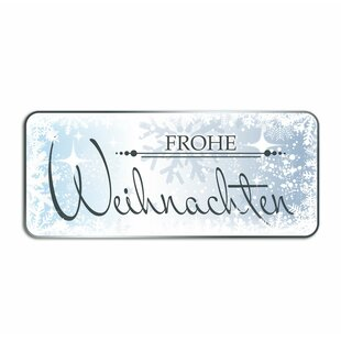 Frohe Weihnachten, Snow Crystals Wall Sticker By East Urban Home