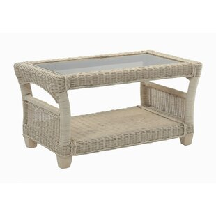 Lomond Natural Coffee Table with Storage by Beachcrest Home