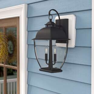 Bargain Wilsonville 2-Light Outdoor Wall Lantern By Three Posts