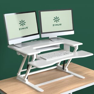 Tamara Double Standing Desk Converter by Symple Stuff