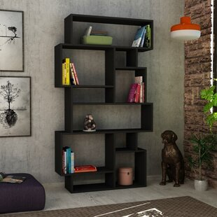 Aryan Modern Geometric Bookcase by Brayden Studio Best #1