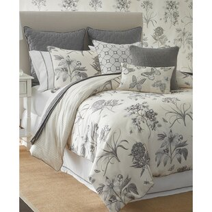 Sanderson Etching and Roses 4 Piece Cotton Printed Comforter Set