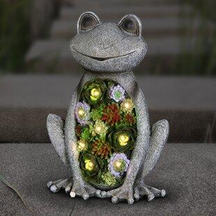 Topaz Solar Frog Statue