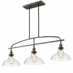 Reviews 3-Light Kitchen Island Pendant By CLAXY