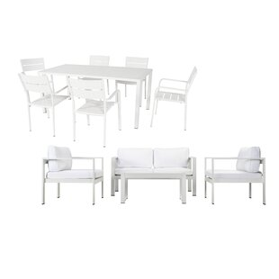 WKRN LRG 11 Piece Complete Patio Set with Cushions by Rosecliff Heights