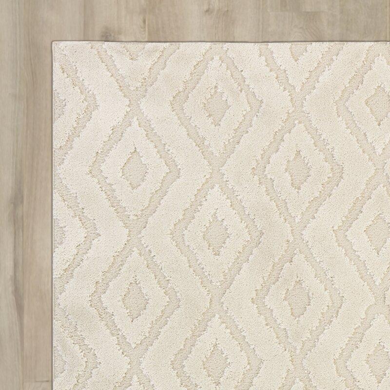 Nickson Geometric Cream Area Rug