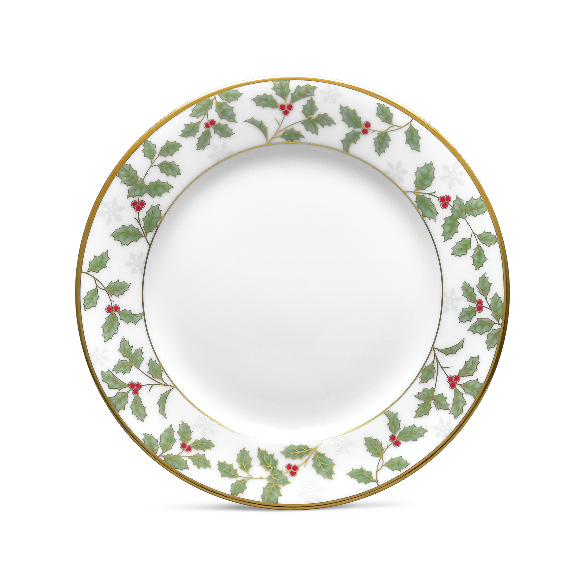 Noritake Holly and Berry Gold Bread and Butter Plate