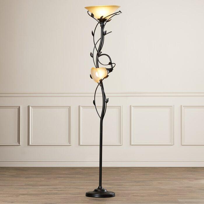 wayfair alcott hill lamp torchiere reviews crystal floors led floor perfect
