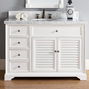 Osmond Traditional 48 Single Cottage White Bathroom Vanity Set by Greyleigh