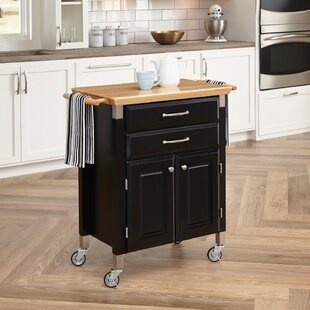 Hamilton Kitchen Island with Wood Top
