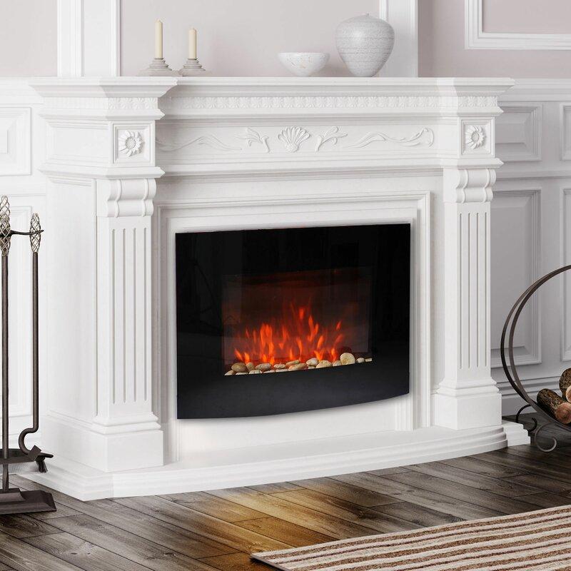 homcom curved glass electric fireplace reviews wayfair co uk rh wayfair co uk glass electric fireplace insert glass electric fireplace insert