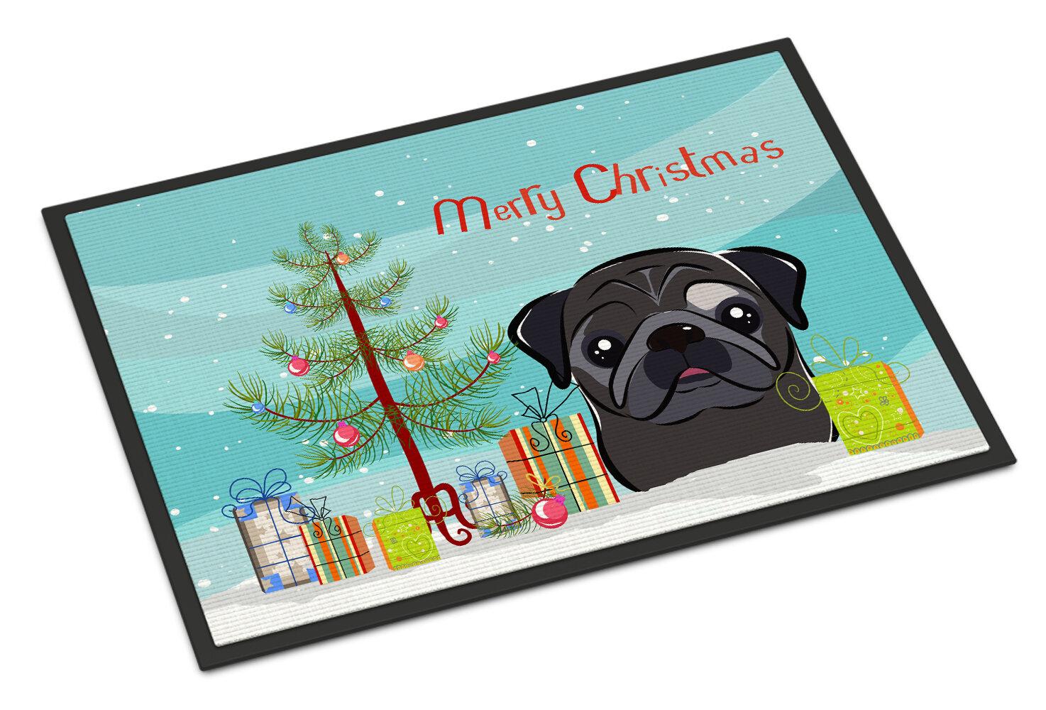 Carolines Treasures Christmas Tree Pug Doormat Wayfair