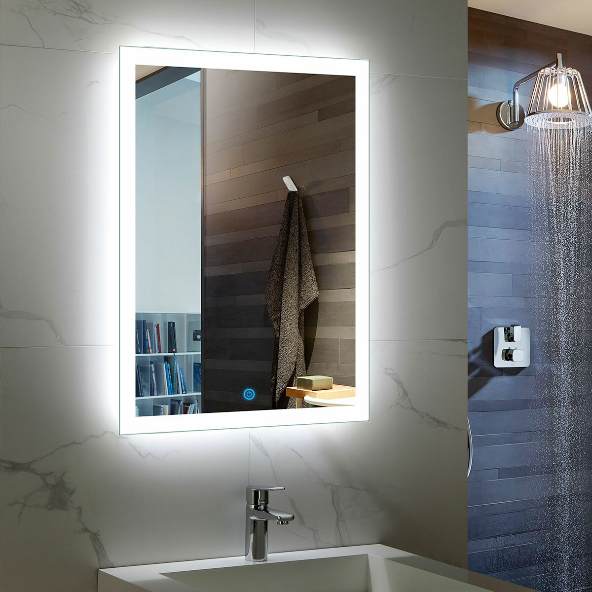 Ivy Bronx Albie Modern Contemporary Lighted Bathroom Vanity Mirror Reviews Wayfair
