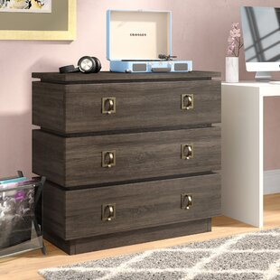 Andreas 3 Drawer Media Chest