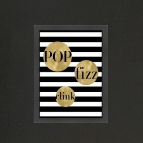 Mercer41 Pop Fizz Clink Stripe Framed Graphic Art
