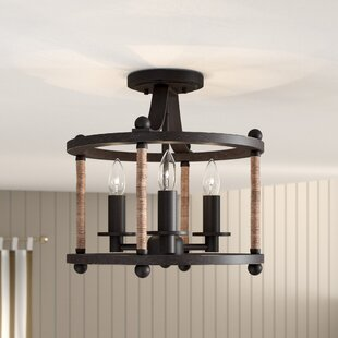 Greenleaf 3-Light Semi Flush Mount by Beachcrest Home