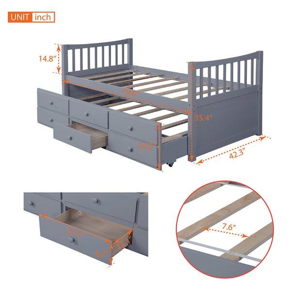 Harriet Bee Balcorne Twin Platform Bed With Trundle Wayfair