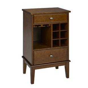 Darby Home Co Jasonville Solid Wood 6 Bottle Floor Wine Cabinet