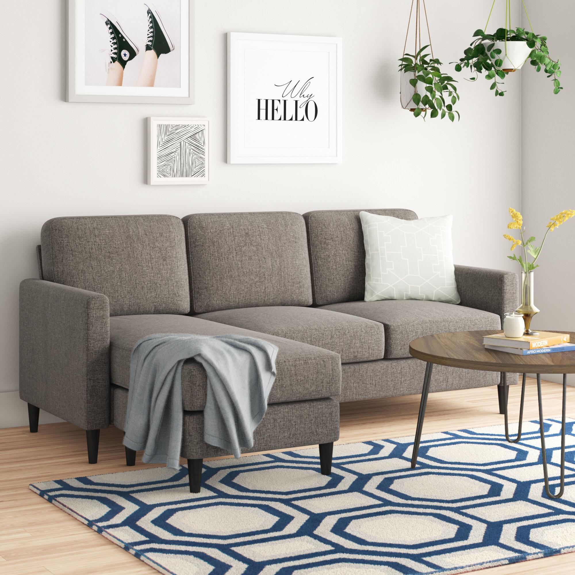 Zipcode Design Cazenovia 81 63 Reversible Sofa Chaise Reviews Wayfair