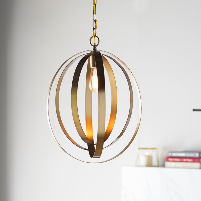 Aalin 1 Light Single Geometric Pendant Reviews Joss Main