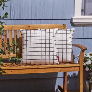 Belmonte Modern Grid Indoor/Outdoor Throw Pillow (Set of 2)