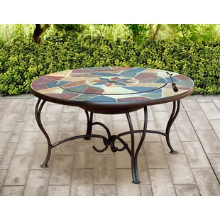 Bowie Cast Iron Charcoal Wood Burning Fire Pit Table By Bloomsbury Market
