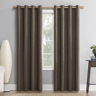 Gavlin Crosshatch Jacquard Geometric Max Blackout Thermal Grommet Single Curtain Panel by Sun Zero