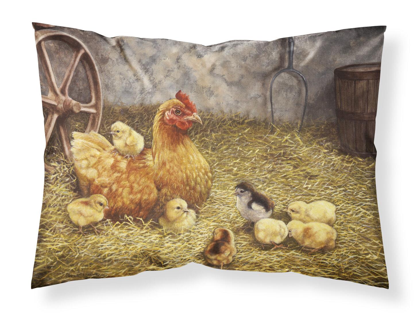 East Urban Home Chicken Hen And Chicks Pillowcase Wayfair