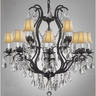 Astoria Grand Alvan 12-Light Empress Shaded Chandelier