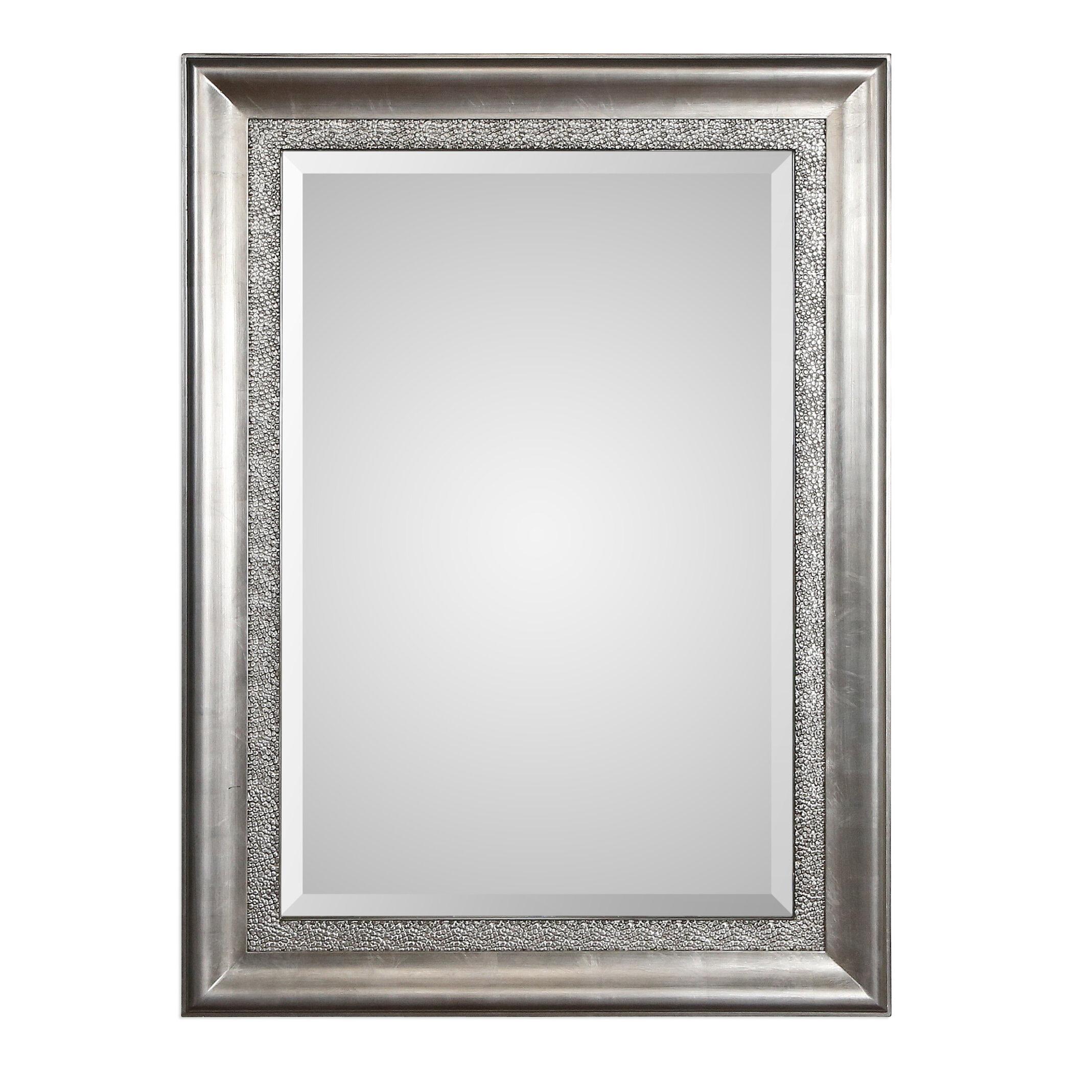 Willa Arlo Interiors Ellie Bevelled Silver Wall Mirror & Reviews ...