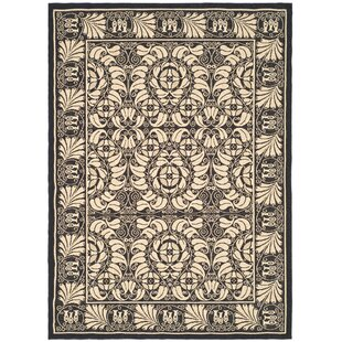 Best Deals Catori Sand/Black Outdoor Rug By World Menagerie