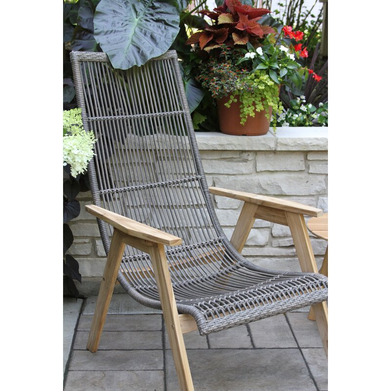 Largent Teak Patio Chair With Cushions Reviews Allmodern