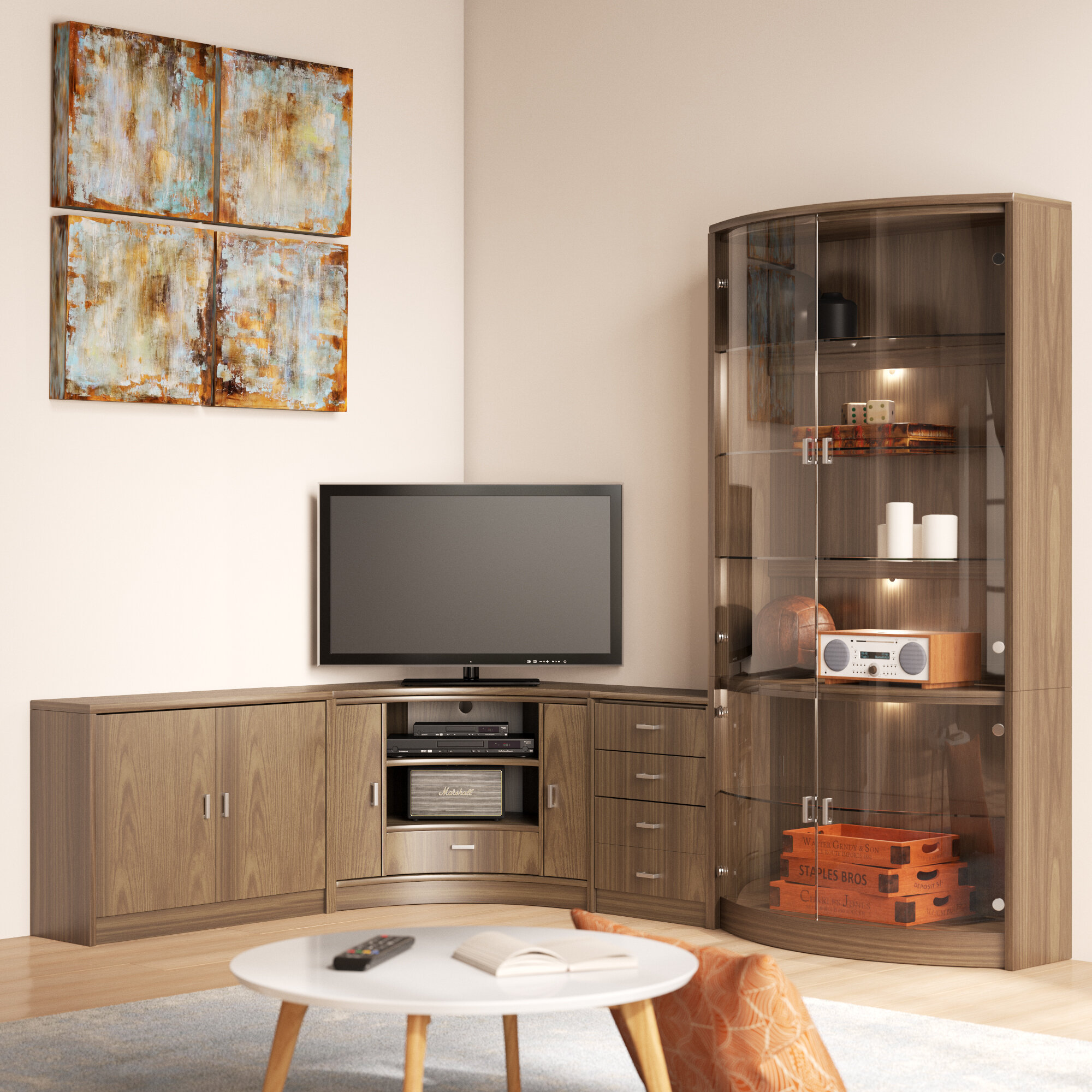 Corner Entertainment Unit for TVs up to 20