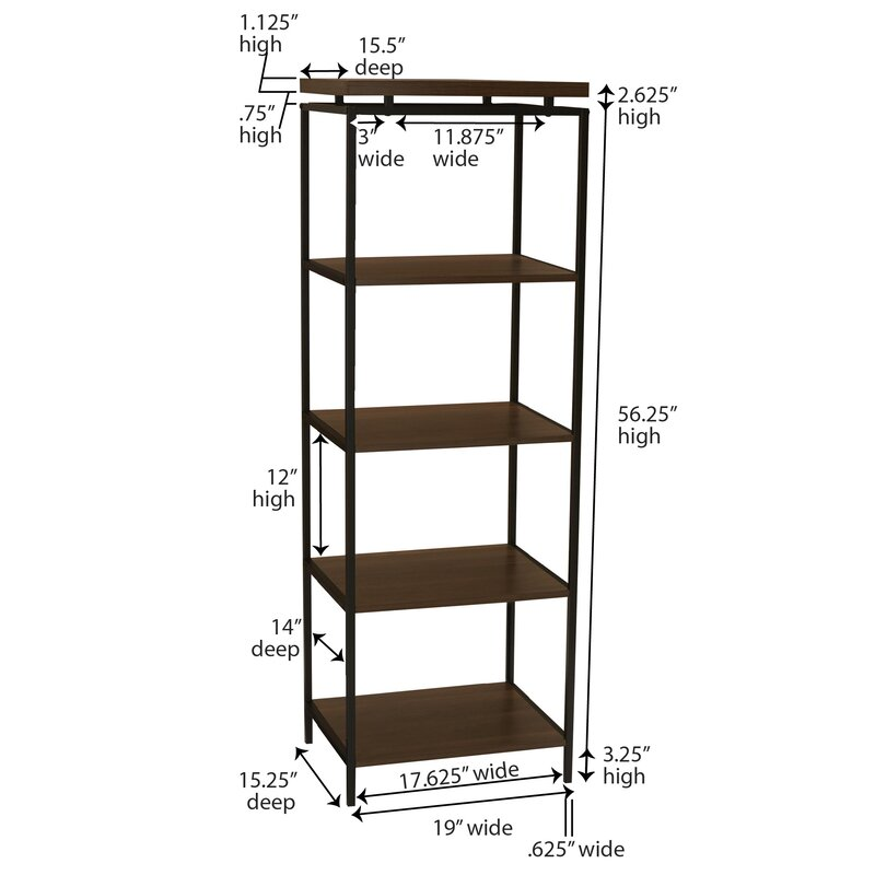 Wrought Studio Dunagan Etagere Bookcase & Reviews | Wayfair