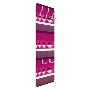 Pink Ethnic Mix Wall Mounted Coat Rack By Symple Stuff