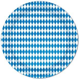 Blue & White Paper Appetizer Plates