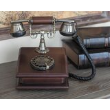 Classic Wooden Corded Telephone