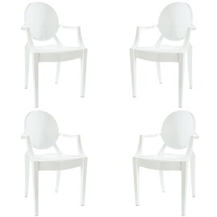 Bentlee Stacking Patio Dining Chair (Set Of 4) by Everly Quinn Discount