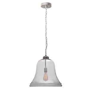 August Grove Bastogne 1-Light Bell Pendant