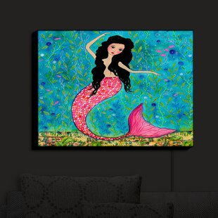 Rosecliff Heights Dancing Mermaid' Print on Fabric
