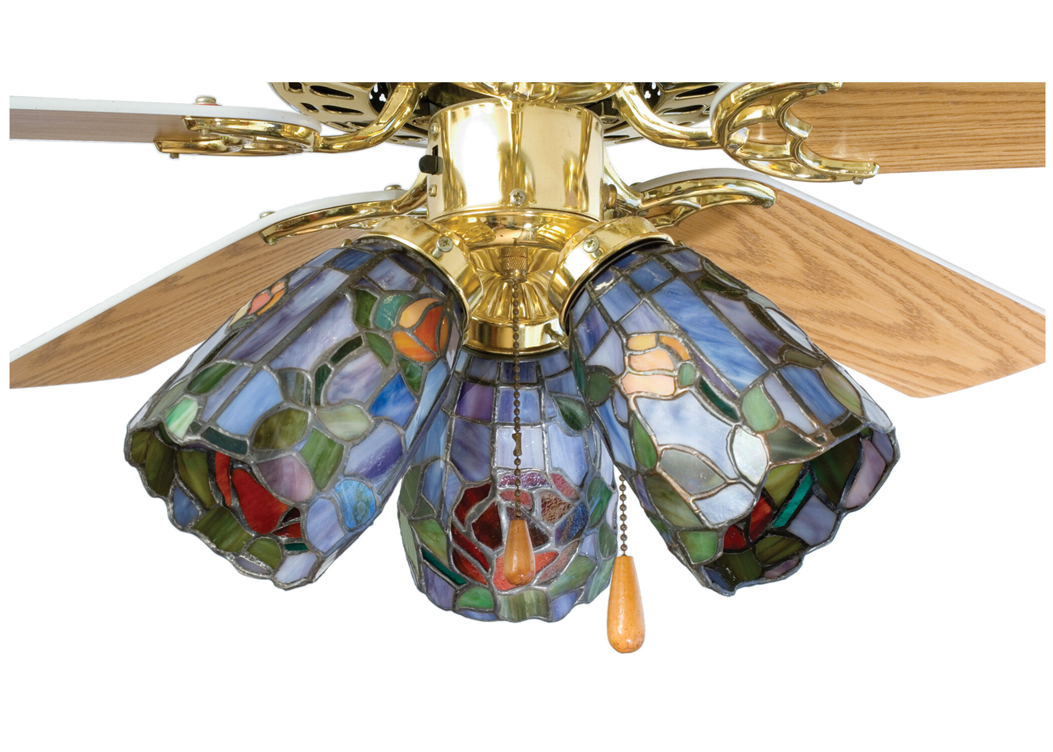 """Meyda Tiffany Tiffany 4"""" Glass Bowl Ceiling Fan Fitter Shade"""